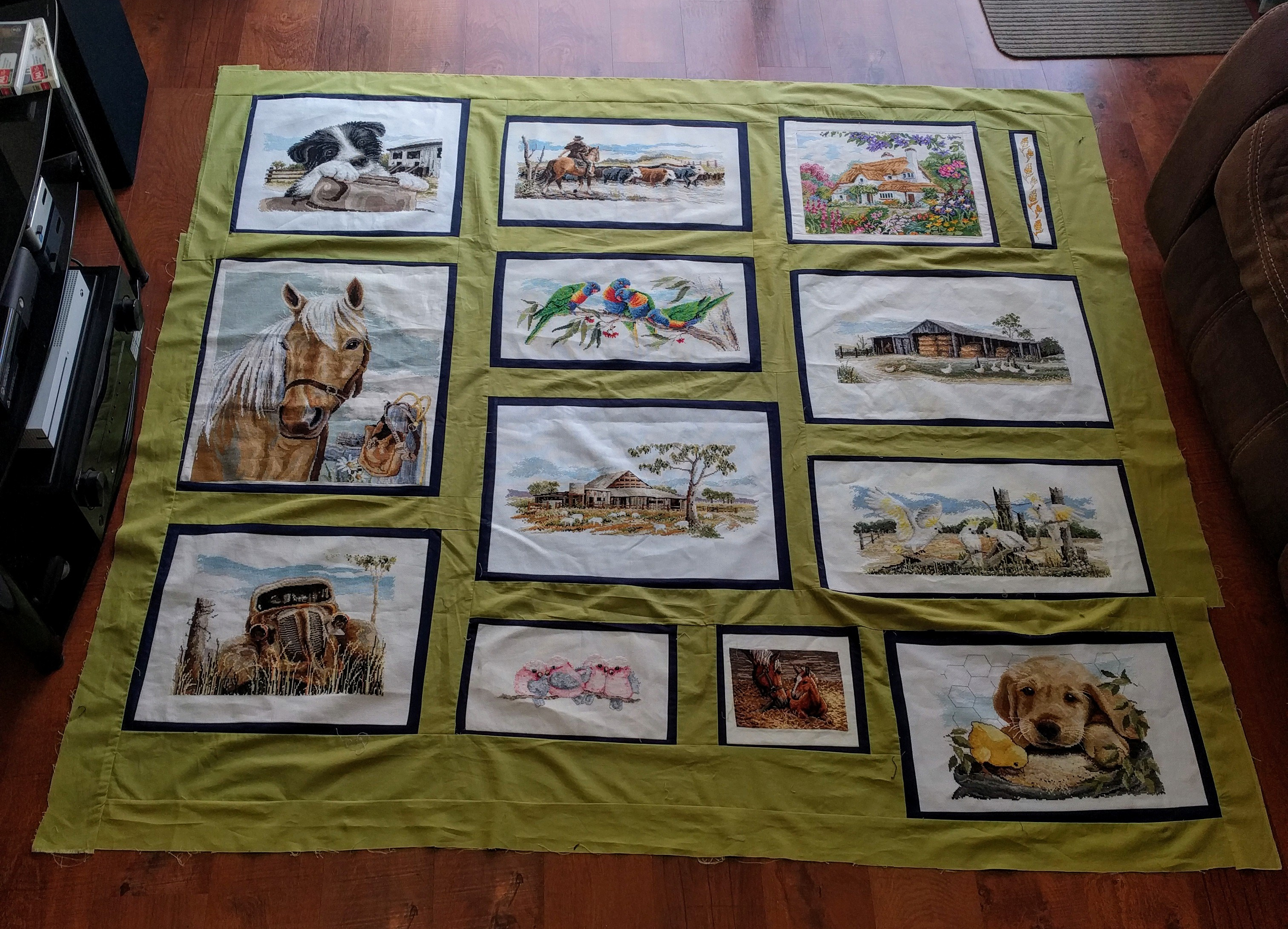 Quilt progress as of 3rd February 2019.